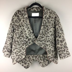 Thakoon Additions leopard print wool blend jacket